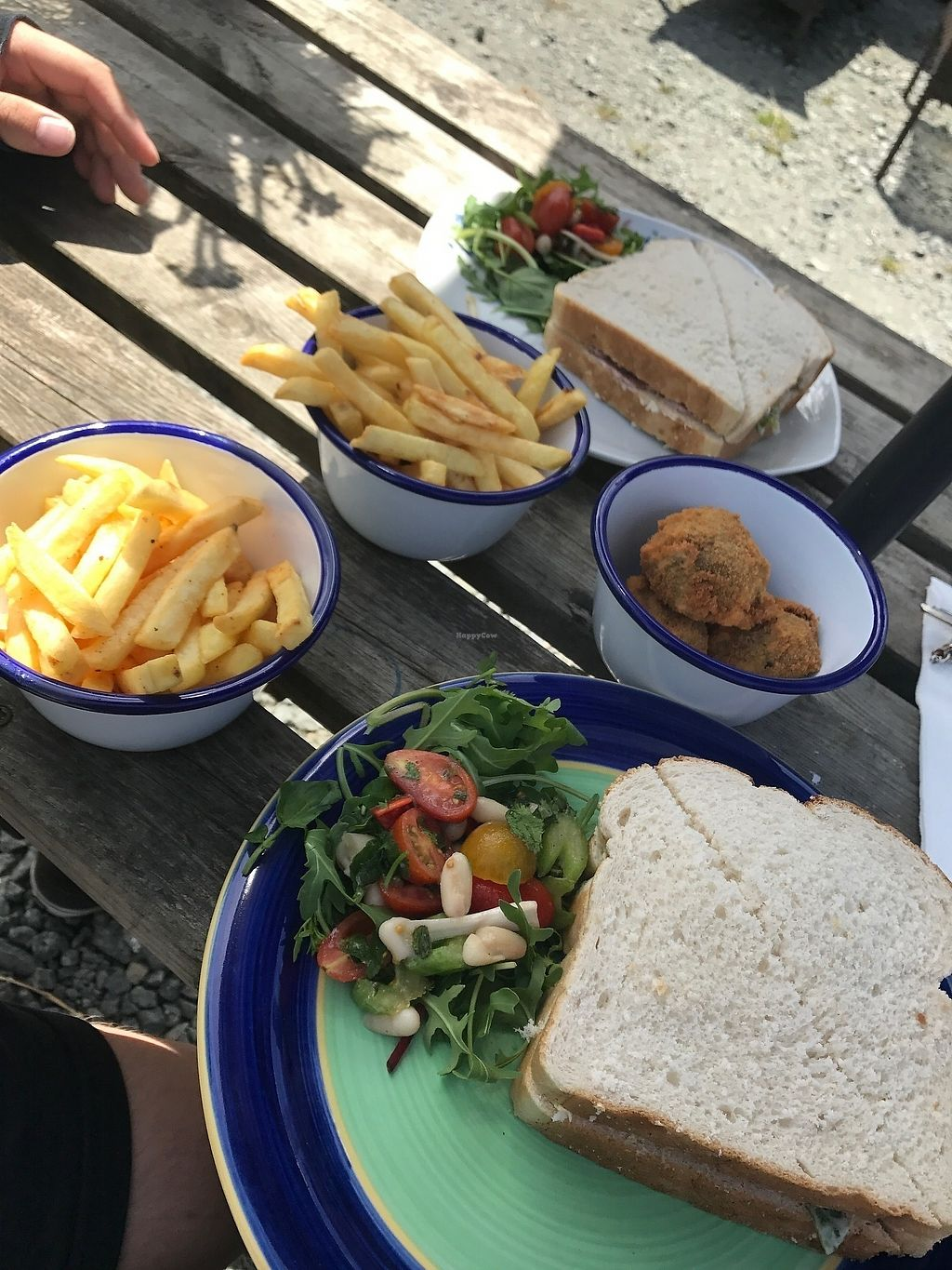 """Photo of The Retreat Animal Rescue Farm Sanctuary and Cafe  by <a href=""""/members/profile/RubyVegan"""">RubyVegan</a> <br/>Vegan BLT and homemade Seitan Nuggets! <br/> June 26, 2017  - <a href='/contact/abuse/image/93600/273666'>Report</a>"""