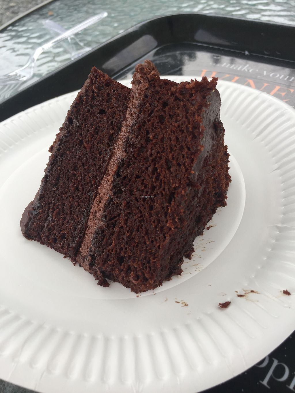 """Photo of The Retreat Animal Rescue Farm Sanctuary and Cafe  by <a href=""""/members/profile/TARAMCDONALD"""">TARAMCDONALD</a> <br/>Delicious homemade vegan chocolate cake x <br/> July 22, 2017  - <a href='/contact/abuse/image/93600/283384'>Report</a>"""