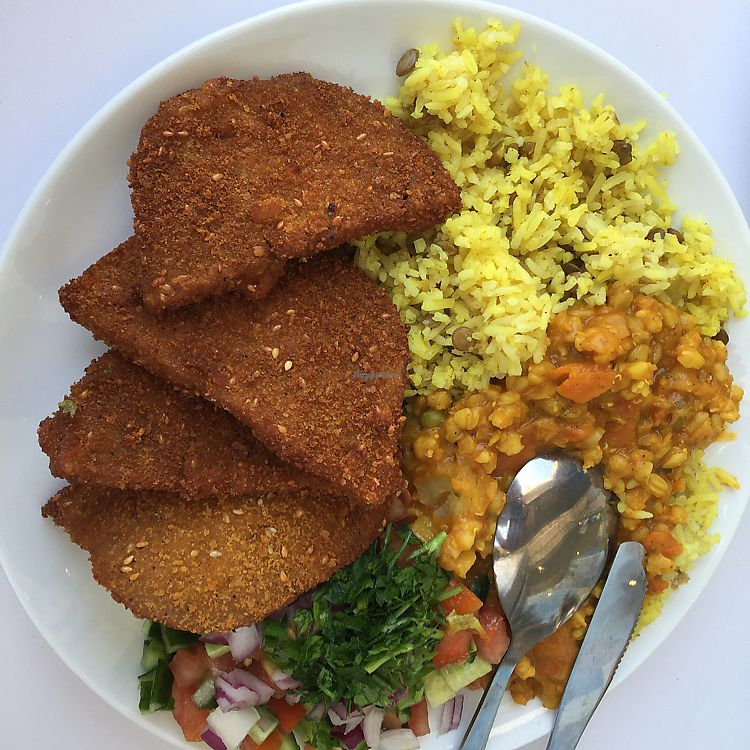 """Photo of Tamar's Vegan Food  by <a href=""""/members/profile/Eyal87"""">Eyal87</a> <br/>Schneitzel <br/> June 11, 2017  - <a href='/contact/abuse/image/93611/268038'>Report</a>"""