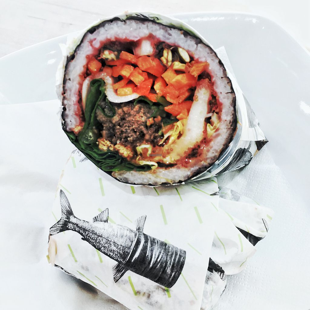 """Photo of SOMA  by <a href=""""/members/profile/spicygrain"""">spicygrain</a> <br/>vegan sushi burrito <br/> July 18, 2017  - <a href='/contact/abuse/image/93612/281803'>Report</a>"""