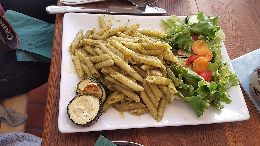 """Photo of Dreizehn in der Muehle  by <a href=""""/members/profile/mohare22"""">mohare22</a> <br/>pesto pasta dish <br/> June 8, 2017  - <a href='/contact/abuse/image/93613/267135'>Report</a>"""