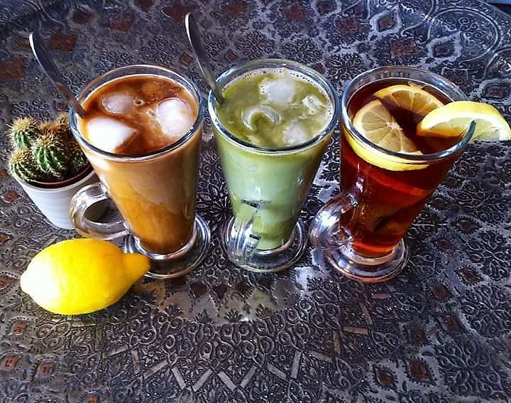 """Photo of The Coffee Lover's Cafe  by <a href=""""/members/profile/LucyNg"""">LucyNg</a> <br/>Ice coffee, ice matcha latte or alkaline lemon tea. Soya option available.  <br/> June 11, 2017  - <a href='/contact/abuse/image/93648/268206'>Report</a>"""