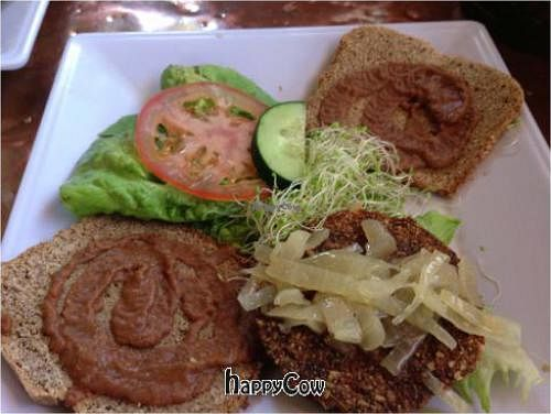 "Photo of ChocolaTree Organic Oasis  by <a href=""/members/profile/Ethan"">Ethan</a> <br/>'Veggie burger' with 'homemade ketchup' <br/> March 24, 2013  - <a href='/contact/abuse/image/9364/45961'>Report</a>"