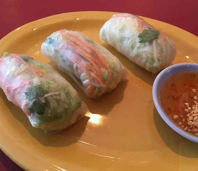 """Photo of Pad Thai Kitchen  by <a href=""""/members/profile/KateShaw"""">KateShaw</a> <br/>veggie spring rolls  <br/> June 8, 2017  - <a href='/contact/abuse/image/93655/266978'>Report</a>"""