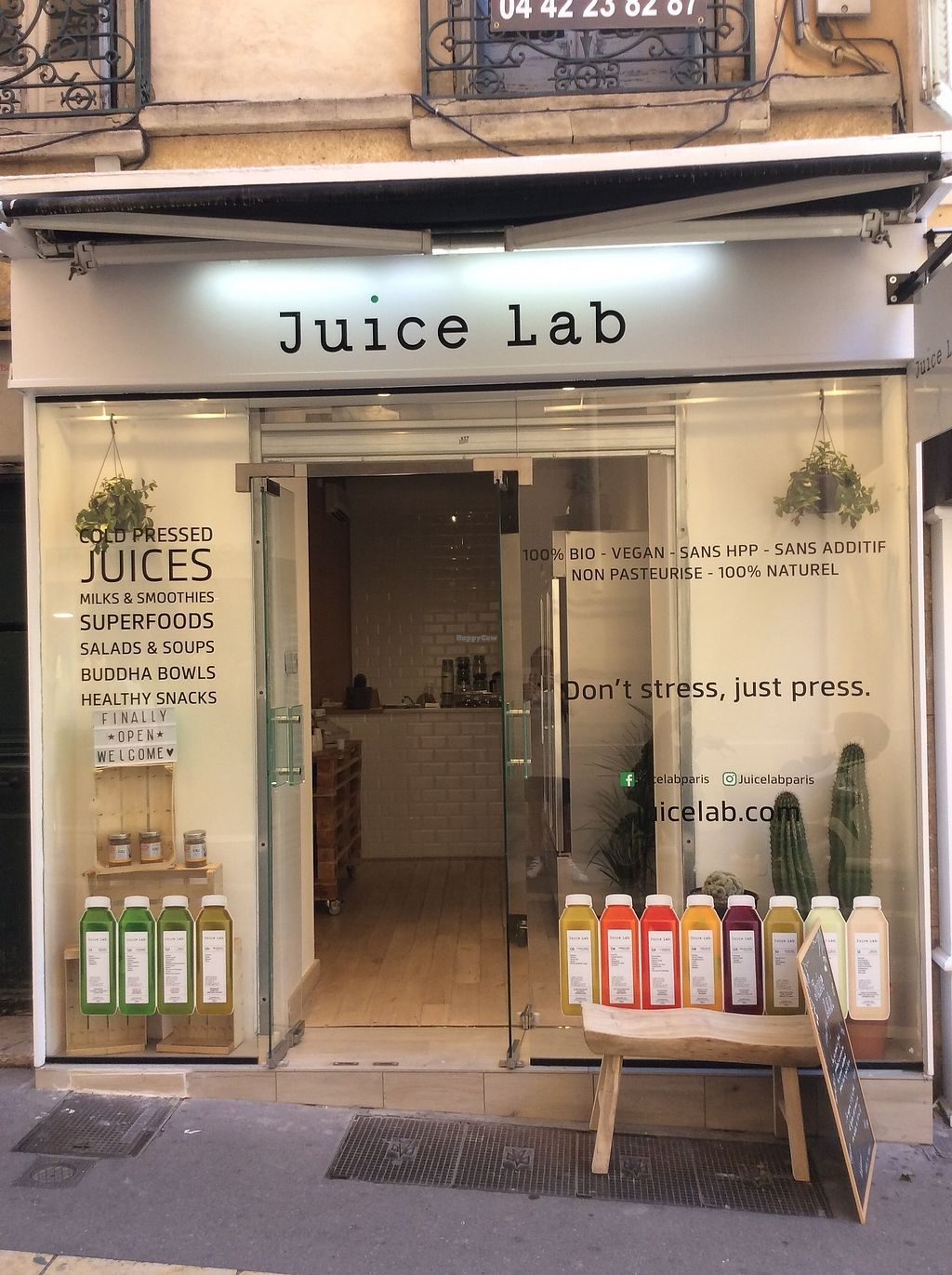 """Photo of Juice Lab   by <a href=""""/members/profile/BrieucSJBaron"""">BrieucSJBaron</a> <br/>New vegan spot <br/> July 7, 2017  - <a href='/contact/abuse/image/93669/277412'>Report</a>"""