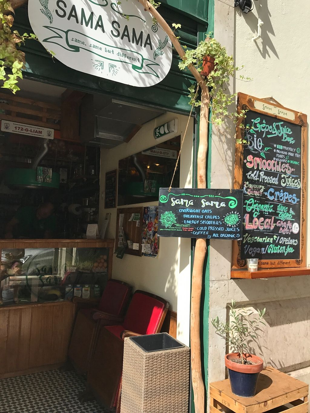"""Photo of Sama Sama - Crepe and Juice Bar  by <a href=""""/members/profile/TineH"""">TineH</a> <br/>Cute exterior  <br/> September 25, 2017  - <a href='/contact/abuse/image/93689/308474'>Report</a>"""