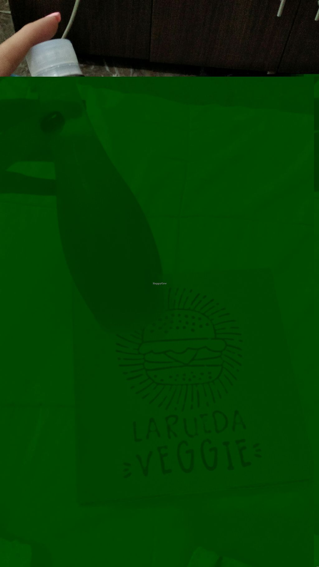 "Photo of La Rueda Veggie  by <a href=""/members/profile/MaryahShdid"">MaryahShdid</a> <br/>Hamburguesa clásica de falafel con cebollas caramelizadas en combo <br/> February 12, 2018  - <a href='/contact/abuse/image/93698/358561'>Report</a>"