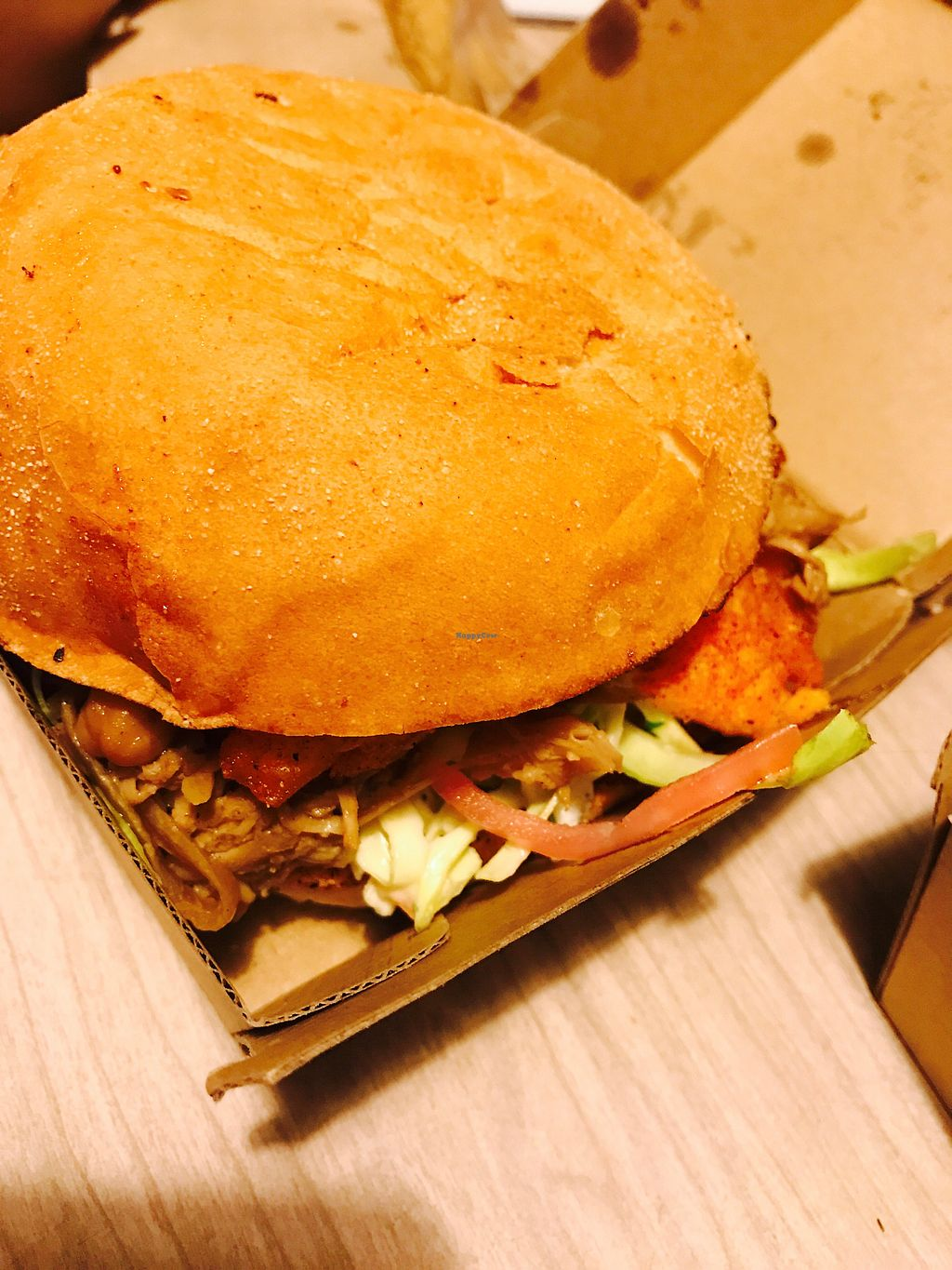 """Photo of Bake and Burger  by <a href=""""/members/profile/NirvanaRoseWilliams"""">NirvanaRoseWilliams</a> <br/>Satay pulled jackfruit burger  <br/> August 5, 2017  - <a href='/contact/abuse/image/93741/289108'>Report</a>"""