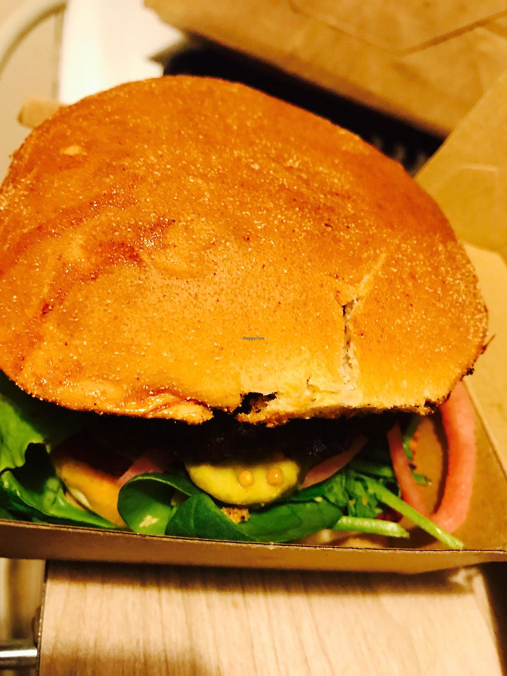 """Photo of Bake and Burger  by <a href=""""/members/profile/NirvanaRoseWilliams"""">NirvanaRoseWilliams</a> <br/>Pumpkin chickpea burger <br/> August 5, 2017  - <a href='/contact/abuse/image/93741/289109'>Report</a>"""