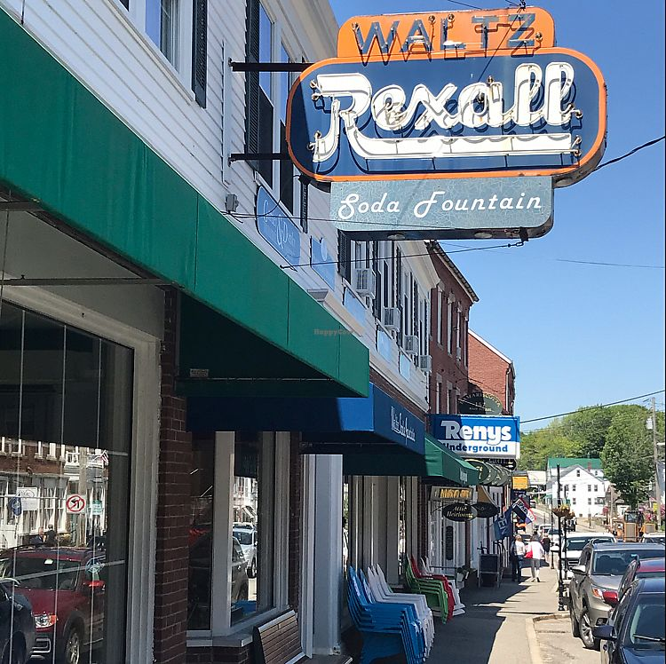 """Photo of Waltz's Soda Fountain  by <a href=""""/members/profile/Sarah%20P"""">Sarah P</a> <br/>front sign <br/> June 9, 2017  - <a href='/contact/abuse/image/93764/267387'>Report</a>"""