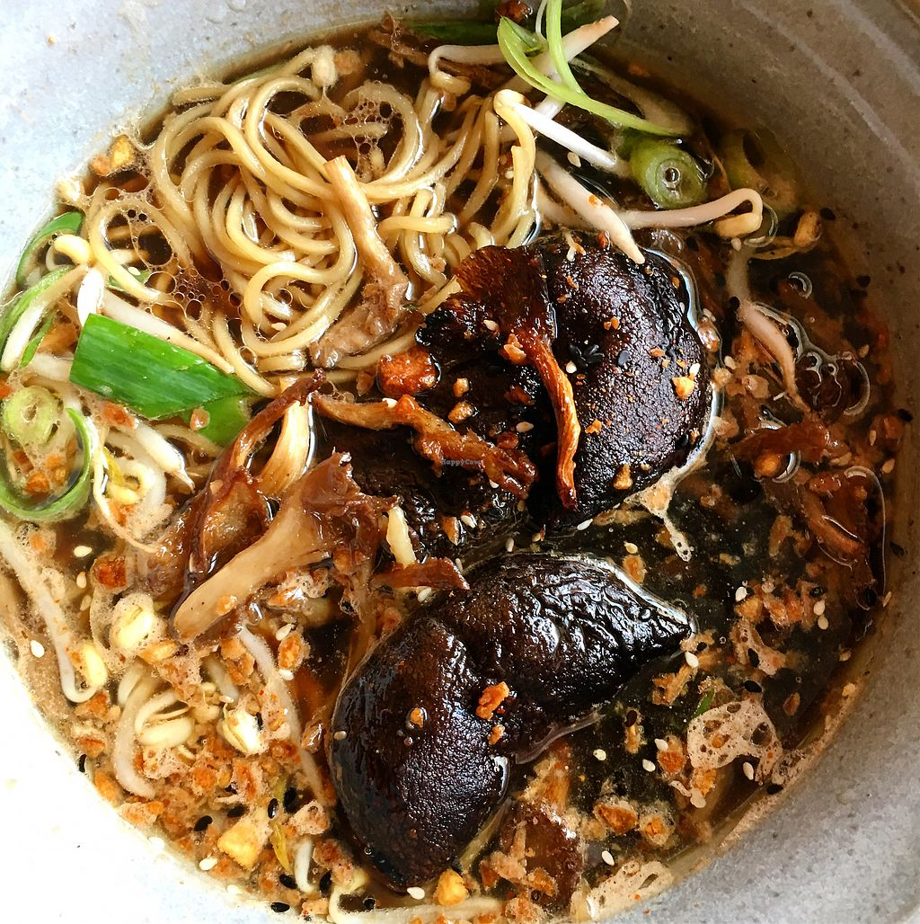 """Photo of Fat Ramen  by <a href=""""/members/profile/SeitanSeitanSeitan"""">SeitanSeitanSeitan</a> <br/>Vegan mushroom umami ramen <br/> August 17, 2017  - <a href='/contact/abuse/image/93770/293628'>Report</a>"""