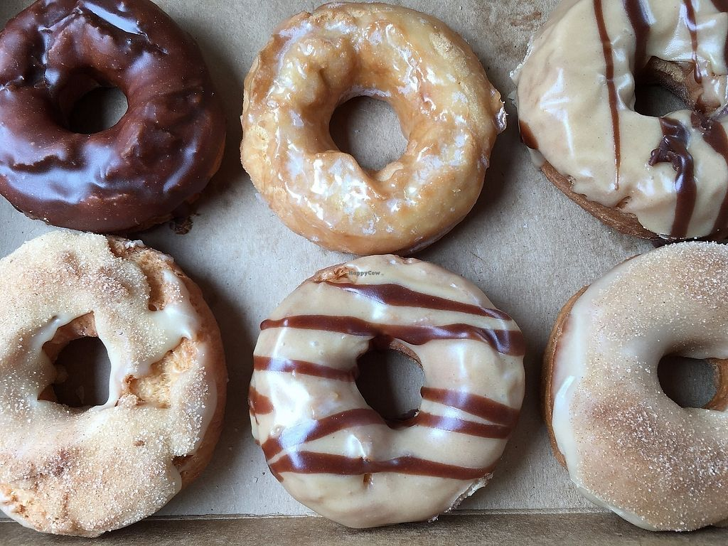 "Photo of Wake N Bake Donuts  by <a href=""/members/profile/TraciH"">TraciH</a> <br/>Wake n Bake vegan donut choices - tasty! <br/> June 9, 2017  - <a href='/contact/abuse/image/93776/267407'>Report</a>"