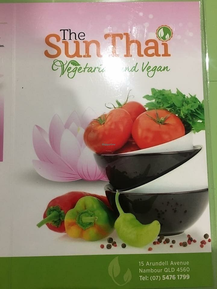 """Photo of The Sun Thai Restaurant  by <a href=""""/members/profile/Ladylock"""">Ladylock</a> <br/>Menu front <br/> June 19, 2017  - <a href='/contact/abuse/image/93787/270779'>Report</a>"""