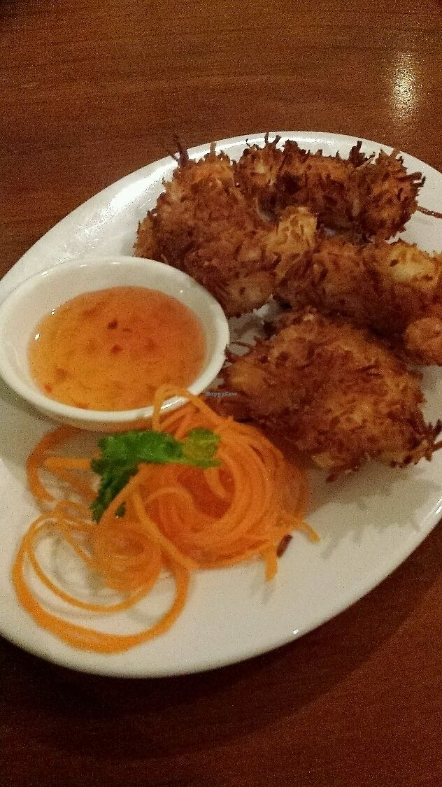 """Photo of The Sun Thai Restaurant  by <a href=""""/members/profile/Purejoy58"""">Purejoy58</a> <br/>Coconut  Prawn  <br/> July 9, 2017  - <a href='/contact/abuse/image/93787/278120'>Report</a>"""