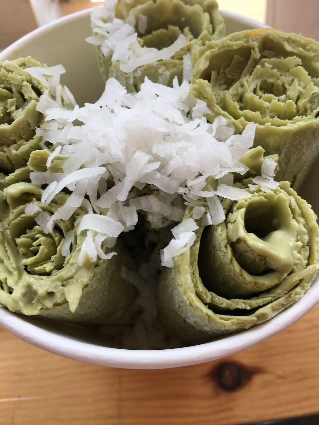 """Photo of Frozen Sweet  by <a href=""""/members/profile/cookiem"""">cookiem</a> <br/>Green tea vegan ice cream rolls <br/> July 31, 2017  - <a href='/contact/abuse/image/93800/287217'>Report</a>"""