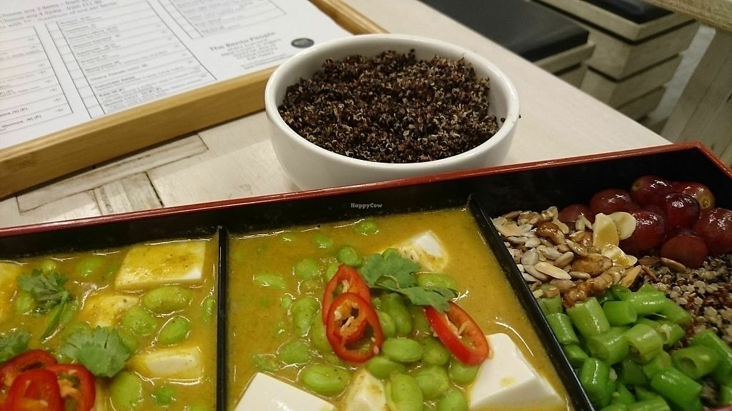"""Photo of The Bento People  by <a href=""""/members/profile/Virogen"""">Virogen</a> <br/>black quinoa and tofu with curry <br/> June 11, 2017  - <a href='/contact/abuse/image/93804/267870'>Report</a>"""