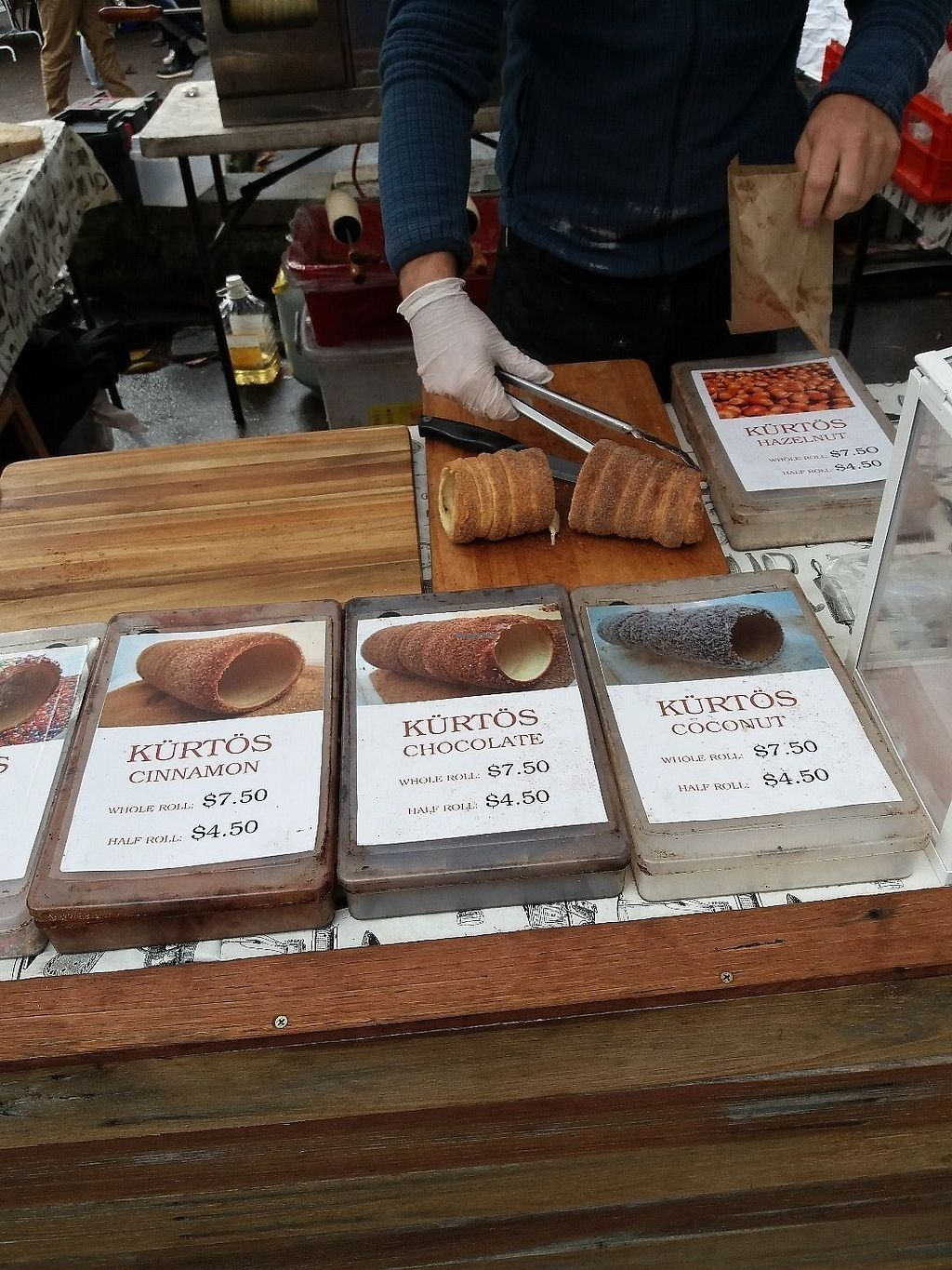 "Photo of Gabor's Kurtos - Market Stall  by <a href=""/members/profile/veganvirtues"">veganvirtues</a> <br/>Some of the vegan sweet rolls <br/> June 11, 2017  - <a href='/contact/abuse/image/93807/267887'>Report</a>"