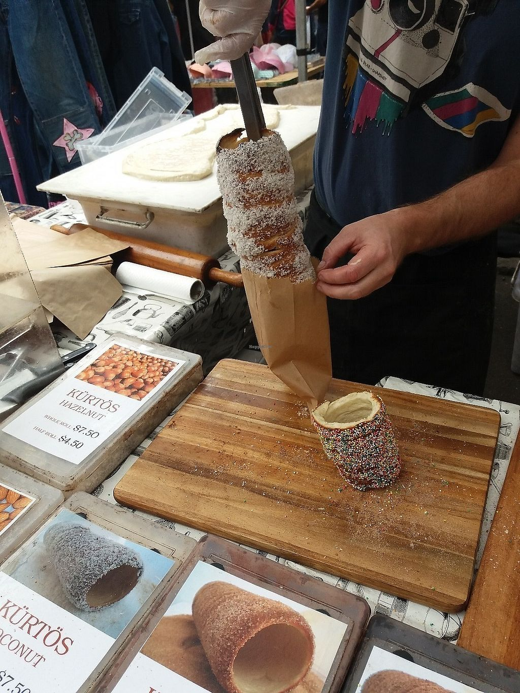 "Photo of Gabor's Kurtos - Market Stall  by <a href=""/members/profile/veganvirtues"">veganvirtues</a> <br/>Ready to serve my coconut kurtos <br/> June 17, 2017  - <a href='/contact/abuse/image/93807/269977'>Report</a>"