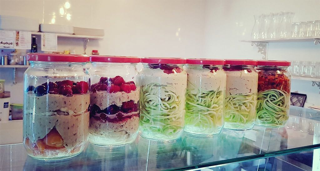 """Photo of CLOSED: Lenka's Garden  by <a href=""""/members/profile/MariahDavidovic"""">MariahDavidovic</a> <br/>Spaghetti and desserts in jars! We try not to use plastic packaging for any of our delicious creations!   Pictured are our Tropical Orchard and Forest Dream desserts, and our Marseille and Ajvar Spaghetti.  <br/> July 13, 2017  - <a href='/contact/abuse/image/93824/279770'>Report</a>"""