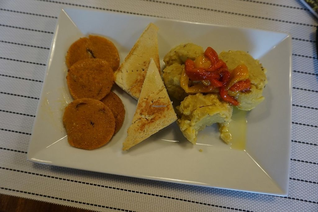 "Photo of Dr Ben Bistro  by <a href=""/members/profile/VeganaDominicana"">VeganaDominicana</a> <br/>Dominican Veggie. A very dominkcan breakfast. Mangú, vegan salami and soy cheese.  <br/> June 10, 2017  - <a href='/contact/abuse/image/93837/267786'>Report</a>"