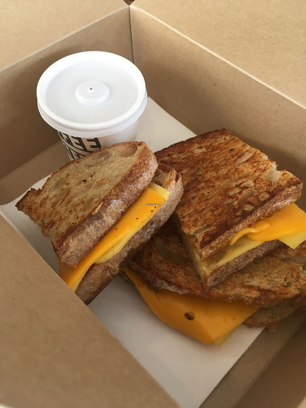"""Photo of The Coffee Counter  by <a href=""""/members/profile/jojoinbrighton"""">jojoinbrighton</a> <br/>Vegan grilled cheese <br/> August 5, 2017  - <a href='/contact/abuse/image/93841/288944'>Report</a>"""