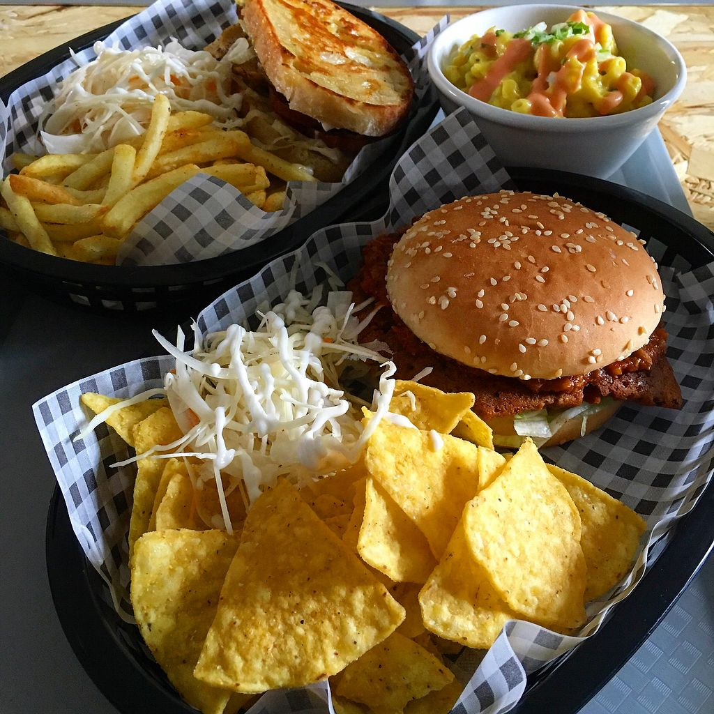 """Photo of Grumpy Panda  by <a href=""""/members/profile/Elle13"""">Elle13</a> <br/>the clubhouse sandwich, the sloppy joe burger, and a pot of mac and cheese <br/> July 10, 2017  - <a href='/contact/abuse/image/93843/278730'>Report</a>"""
