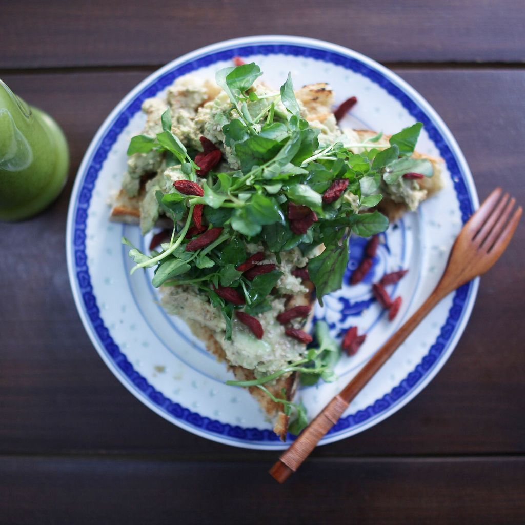 """Photo of The Juicery Cafe  by <a href=""""/members/profile/thecharlotte"""">thecharlotte</a> <br/>Avocado toast <br/> December 27, 2017  - <a href='/contact/abuse/image/93853/339542'>Report</a>"""