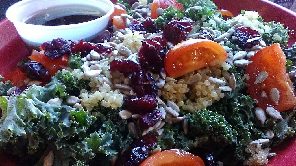 """Photo of Taste Budd's Cafe  by <a href=""""/members/profile/foodfirst"""">foodfirst</a> <br/>Kale-ifornia salad--a salad special purchased September 2017 <br/> September 29, 2017  - <a href='/contact/abuse/image/93868/309544'>Report</a>"""