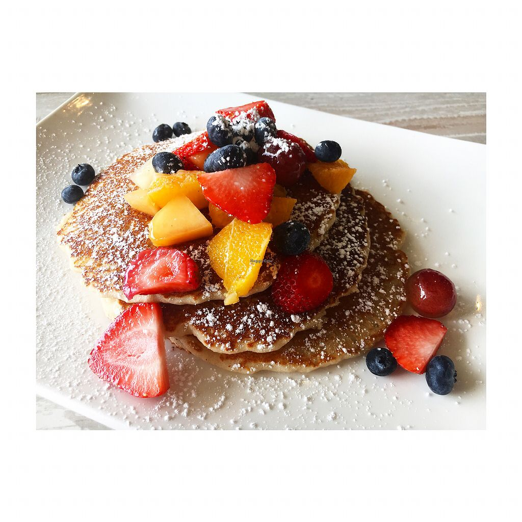 """Photo of Simply Green Cafe  by <a href=""""/members/profile/LexaCastro"""">LexaCastro</a> <br/>Pancakes with fruit <br/> December 3, 2017  - <a href='/contact/abuse/image/93872/331999'>Report</a>"""