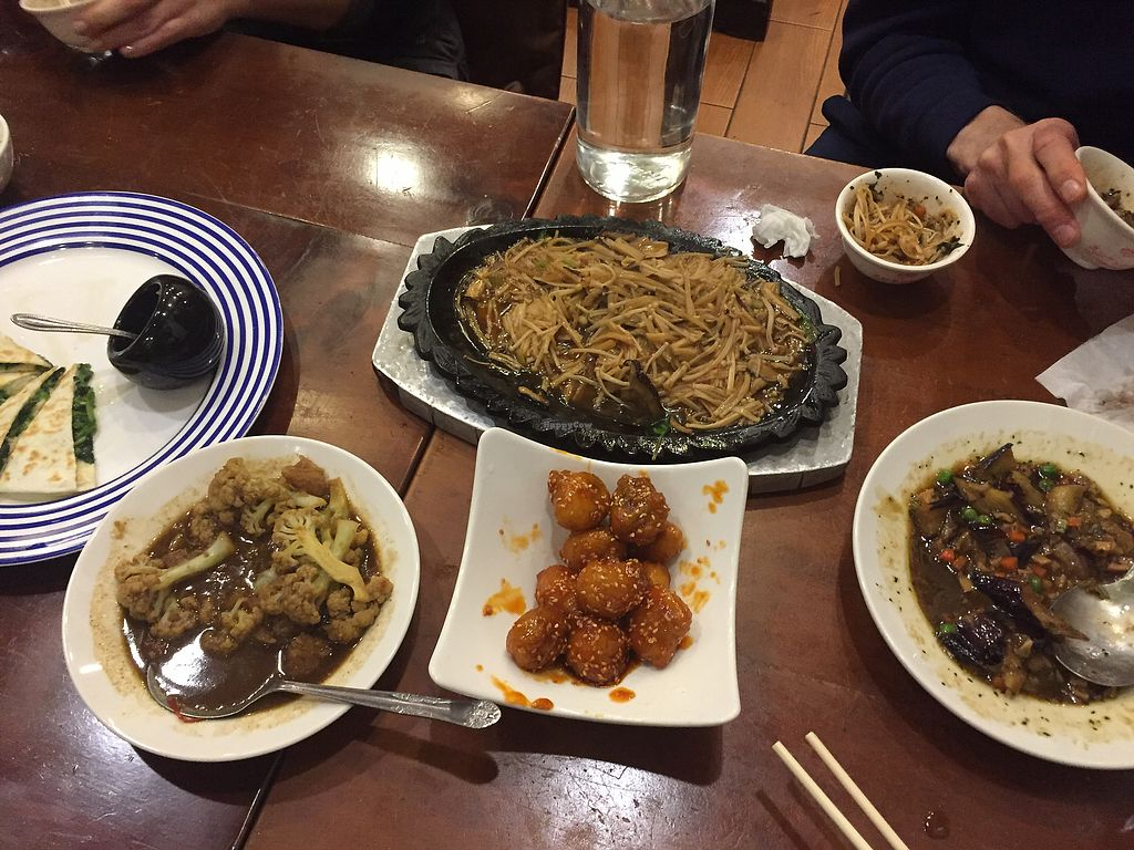 """Photo of Mei Shin Vegetarian Restaurant  by <a href=""""/members/profile/sydneyo"""">sydneyo</a> <br/>After we dug in <br/> January 20, 2018  - <a href='/contact/abuse/image/93873/348931'>Report</a>"""