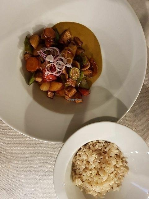 "Photo of Officina Verde - Ristorante e Bottega Vegana  by <a href=""/members/profile/jokasagu"">jokasagu</a> <br/>indian Curry with whole grain rice <br/> June 13, 2017  - <a href='/contact/abuse/image/93887/268828'>Report</a>"