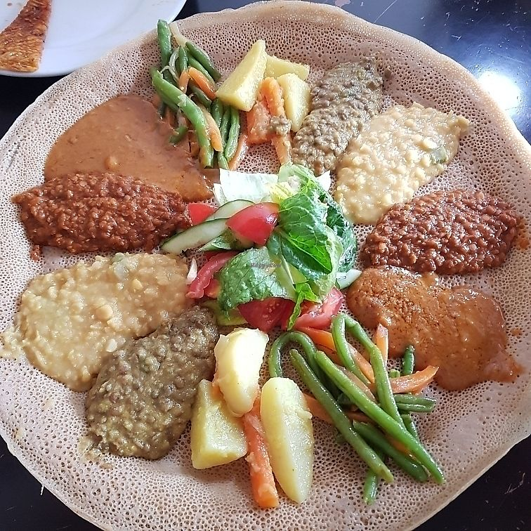 """Photo of Zeret Kitchen  by <a href=""""/members/profile/Sassyvegan"""">Sassyvegan</a> <br/>Vegan platter <br/> June 15, 2017  - <a href='/contact/abuse/image/93891/269305'>Report</a>"""