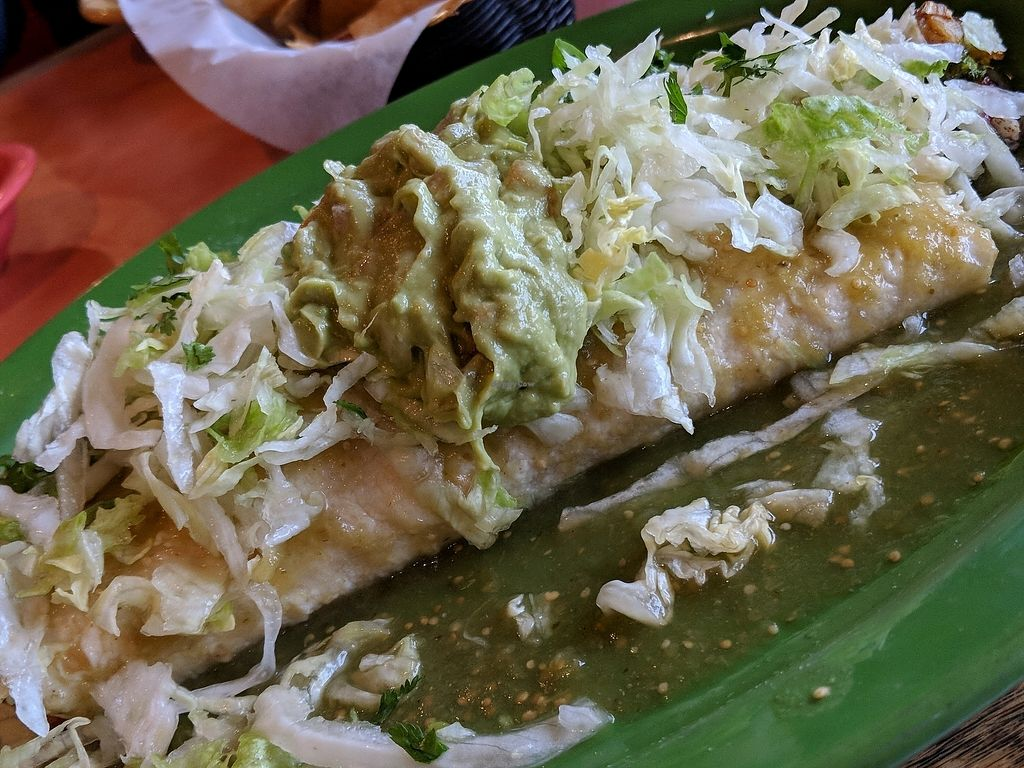 """Photo of Ay Caramba Tres Amigos  by <a href=""""/members/profile/LanaBean"""">LanaBean</a> <br/>Verde burrito <br/> April 8, 2018  - <a href='/contact/abuse/image/93907/382187'>Report</a>"""