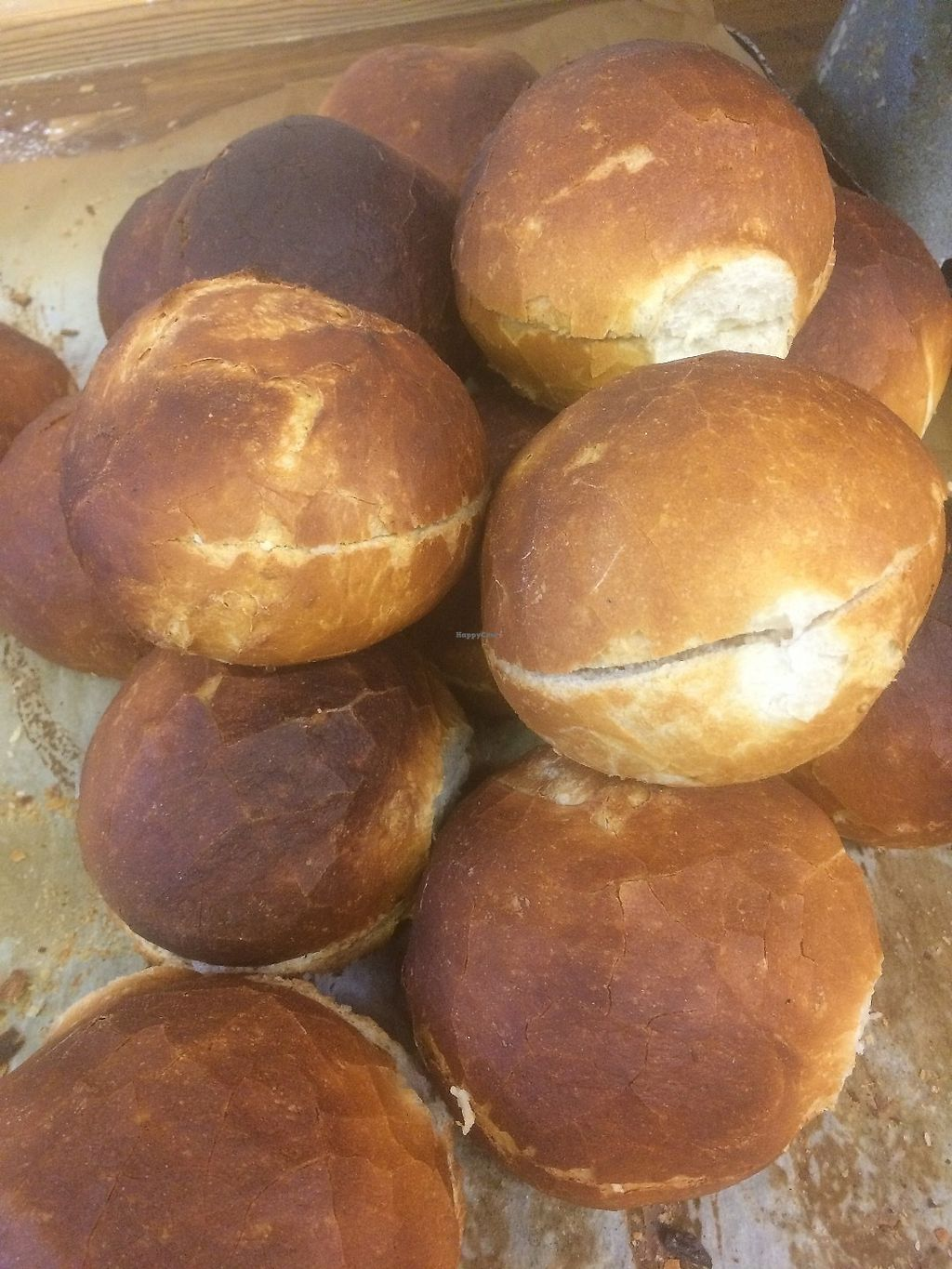 """Photo of Hot Pantry Bakery  by <a href=""""/members/profile/PaulStevenEvans"""">PaulStevenEvans</a> <br/>Vegan crusty cobs <br/> June 18, 2017  - <a href='/contact/abuse/image/93914/270468'>Report</a>"""