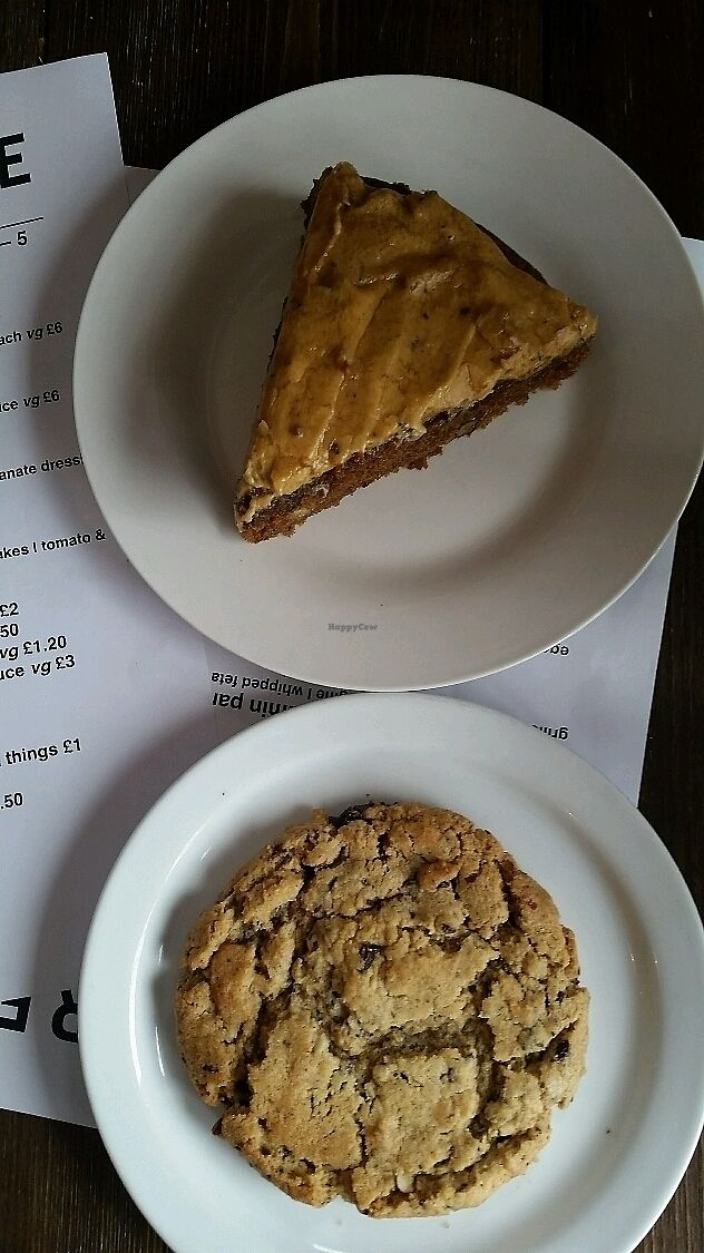 """Photo of Herbivore  by <a href=""""/members/profile/konlish"""">konlish</a> <br/>Coffee Walnut Cardomon cake and a Peanut butter and Chocolate cookie! <br/> July 8, 2017  - <a href='/contact/abuse/image/93920/277918'>Report</a>"""