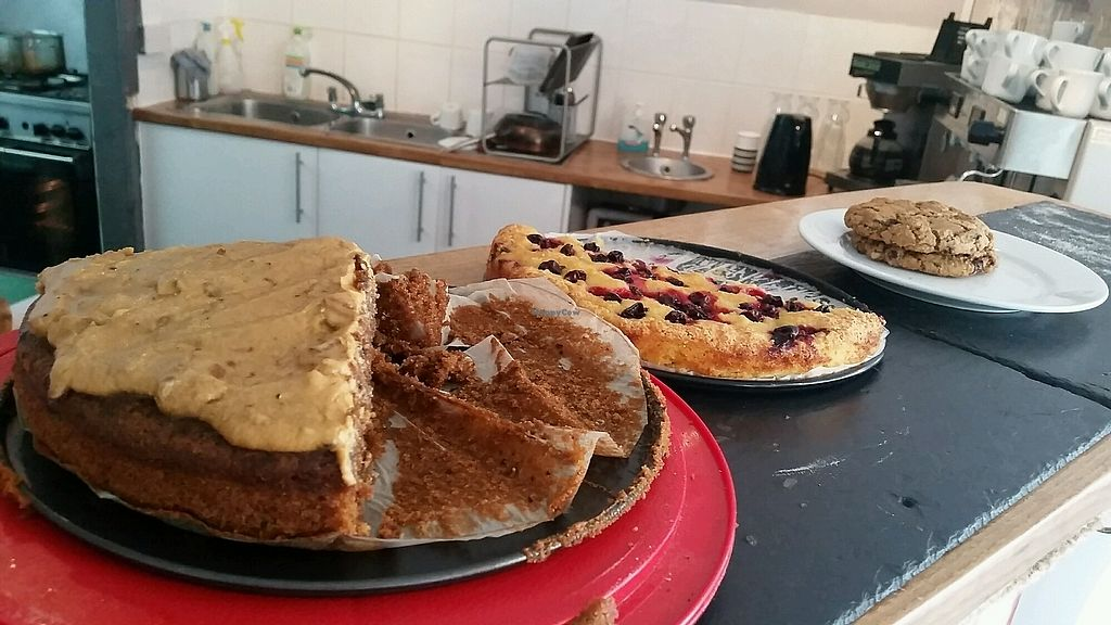 """Photo of Herbivore  by <a href=""""/members/profile/konlish"""">konlish</a> <br/>Desserts: Walnut Cardomon cake,  Black currant and almond Cake, Peanut butter Chocolate Chip Cookie <br/> July 8, 2017  - <a href='/contact/abuse/image/93920/277922'>Report</a>"""