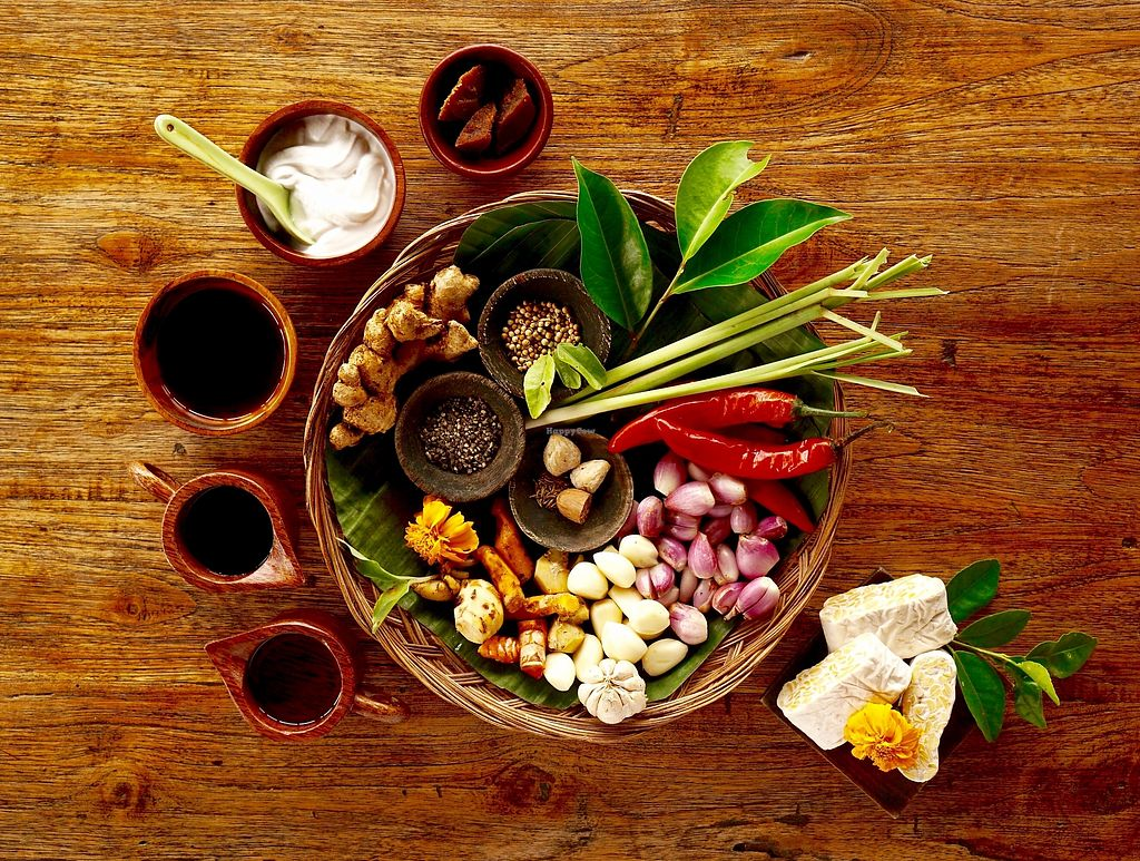 """Photo of Sarinbuana Eco Lodge Restaurant  by <a href=""""/members/profile/baliecolodge"""">baliecolodge</a> <br/>Organic Balinese spices harvested from our organic Permaculture garden to make delicious dishes <br/> November 4, 2017  - <a href='/contact/abuse/image/93928/321578'>Report</a>"""