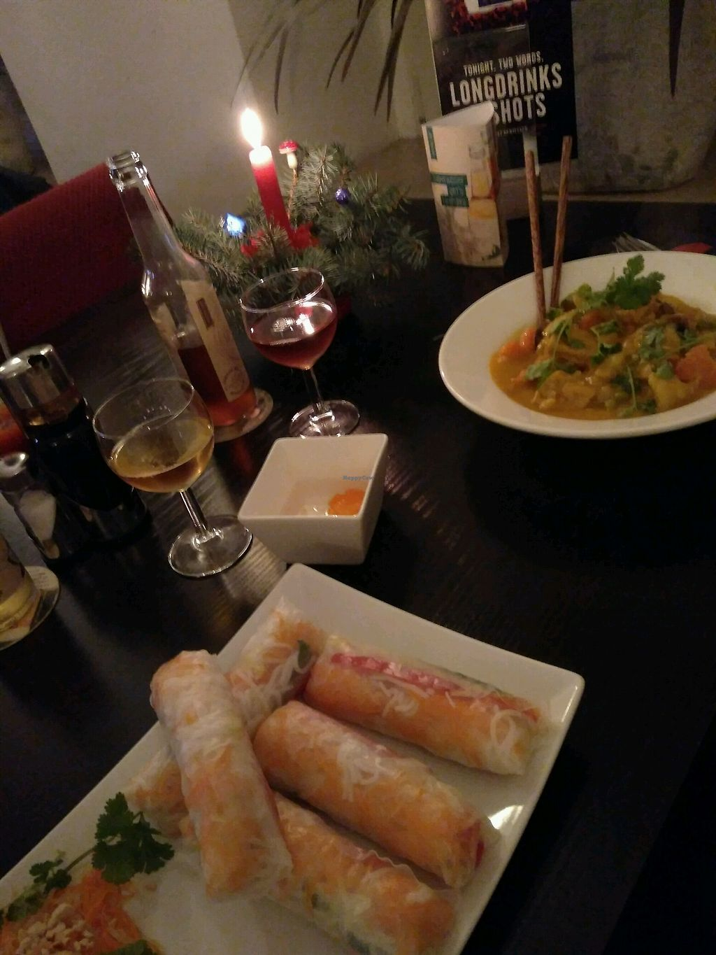 """Photo of Cao  by <a href=""""/members/profile/vegadodo"""">vegadodo</a> <br/>summer rolls and curry <br/> January 2, 2018  - <a href='/contact/abuse/image/93965/341975'>Report</a>"""