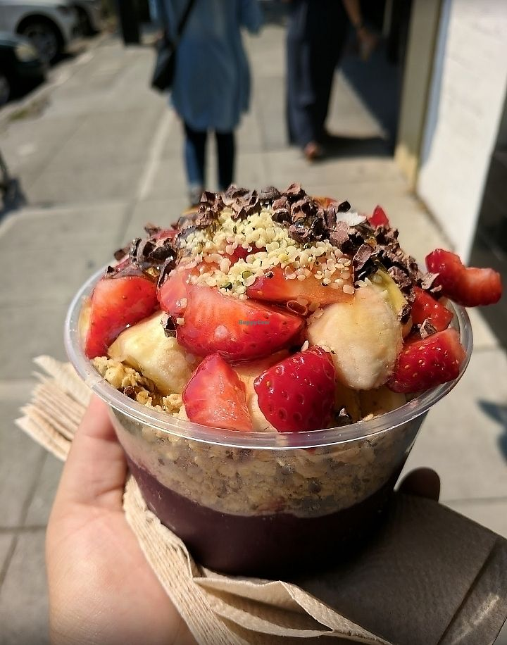 """Photo of Main Squeeze  by <a href=""""/members/profile/MelodyVeganJoy"""">MelodyVeganJoy</a> <br/>acai bowl <br/> March 26, 2018  - <a href='/contact/abuse/image/93980/376113'>Report</a>"""