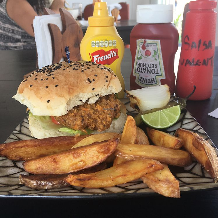 """Photo of En So Sushi  by <a href=""""/members/profile/Kukiaries"""">Kukiaries</a> <br/>Vegan burger <br/> June 17, 2017  - <a href='/contact/abuse/image/93988/270052'>Report</a>"""