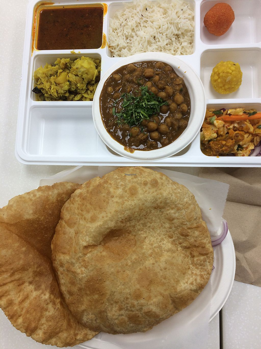 """Photo of Chaat House  by <a href=""""/members/profile/Arti"""">Arti</a> <br/>thali and chole poori <br/> October 6, 2017  - <a href='/contact/abuse/image/93992/312210'>Report</a>"""