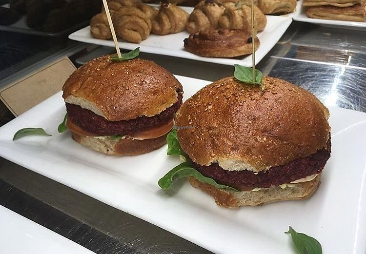 """Photo of Essenza  by <a href=""""/members/profile/LaviniaFanti"""">LaviniaFanti</a> <br/>beetroot veggie burgers <br/> June 18, 2017  - <a href='/contact/abuse/image/93999/270328'>Report</a>"""