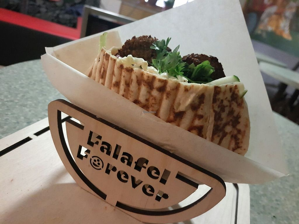 """Photo of Falafel Forever  by <a href=""""/members/profile/AntonSorkin"""">AntonSorkin</a> <br/>Vegandream live natural falafel <br/> October 20, 2017  - <a href='/contact/abuse/image/94001/317062'>Report</a>"""
