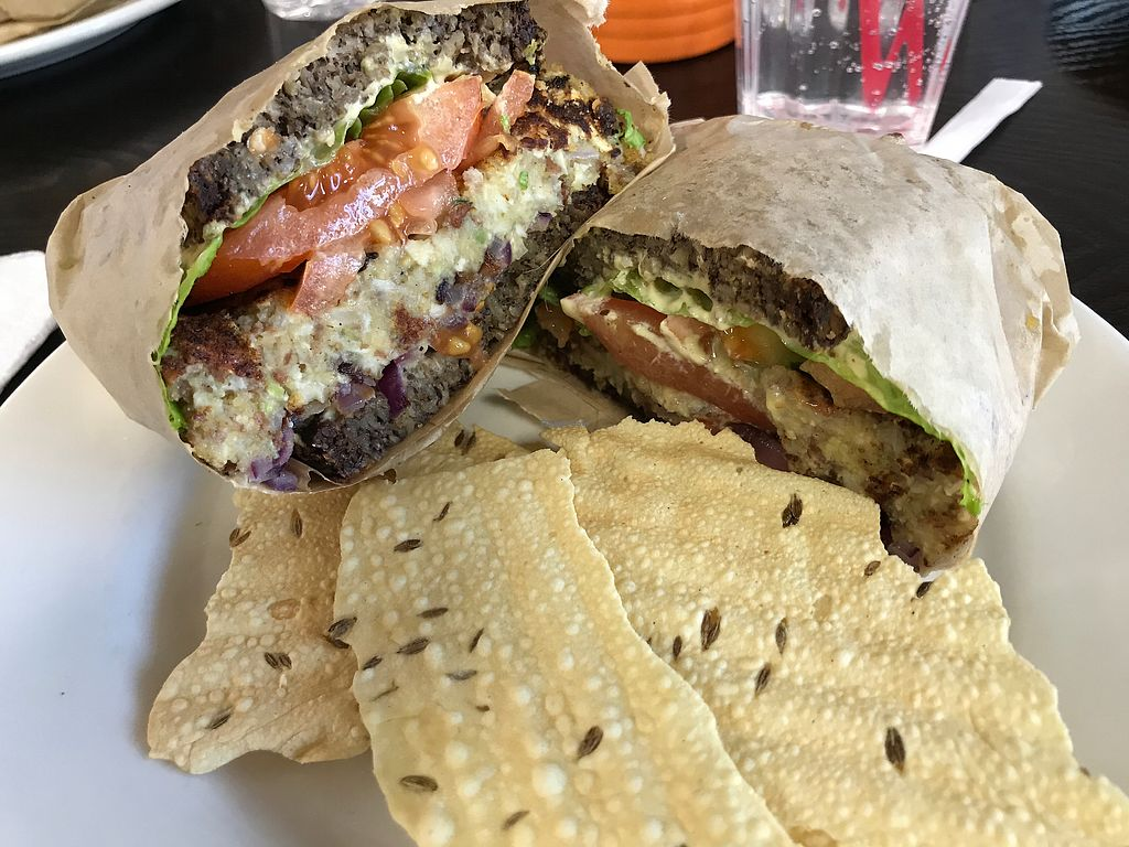 "Photo of Zest Kitchen  by <a href=""/members/profile/%24tonedVegan"">$tonedVegan</a> <br/>Zest Veggie Burger  <br/> December 11, 2017  - <a href='/contact/abuse/image/94028/334462'>Report</a>"