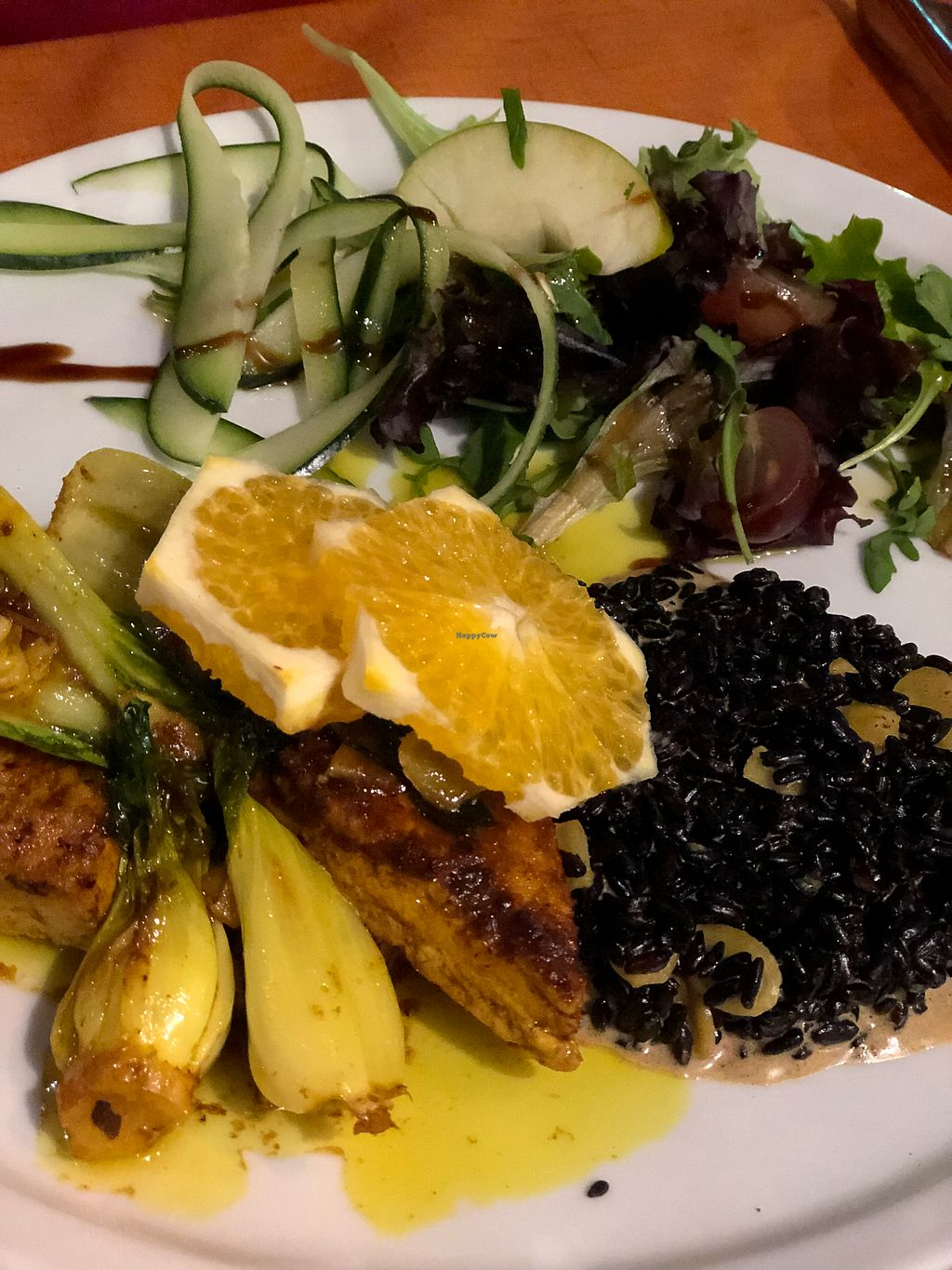 "Photo of Lusitania  by <a href=""/members/profile/Arkie"">Arkie</a> <br/>WILD RICE with marinated tofu, sprouts,sallad and orange <br/> January 2, 2018  - <a href='/contact/abuse/image/94042/342283'>Report</a>"