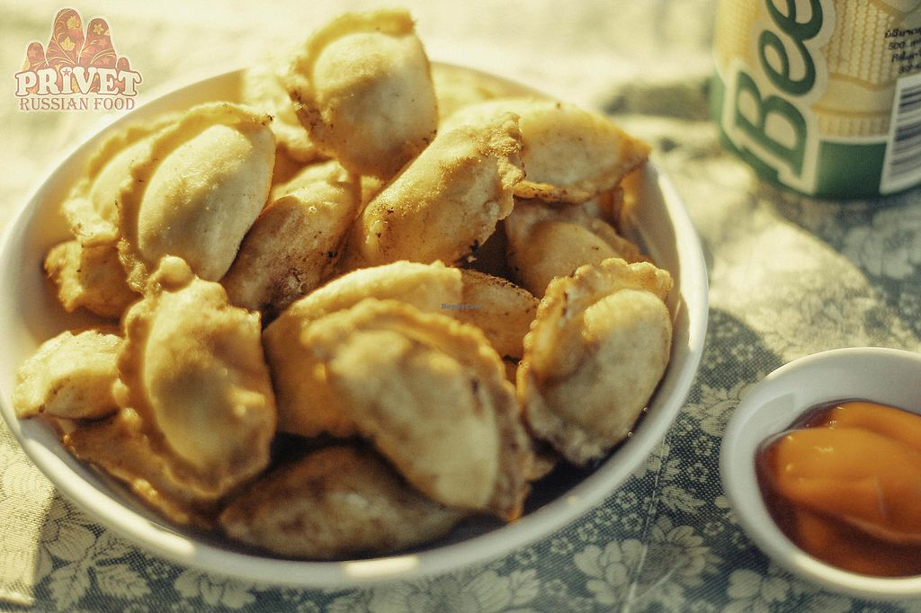 """Photo of Privet Russian Food  by <a href=""""/members/profile/ElenaLaos"""">ElenaLaos</a> <br/> Dumplings with mushrooms <br/> November 13, 2017  - <a href='/contact/abuse/image/94055/325083'>Report</a>"""