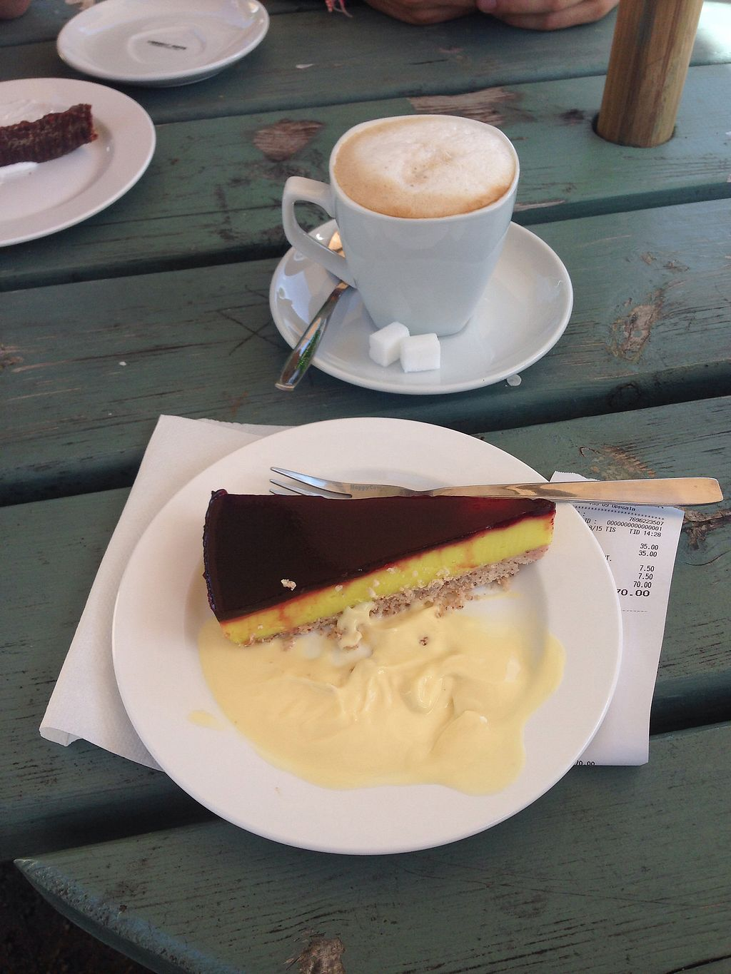 "Photo of Parksnackan  by <a href=""/members/profile/SophieNZ"">SophieNZ</a> <br/>Lemon curd cake with vanilla sauce and an Oatly cappuccino. Both delicious <br/> January 13, 2018  - <a href='/contact/abuse/image/94060/346094'>Report</a>"