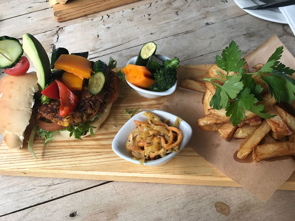 """Photo of In Food Bakery & Deli Restaurant  by <a href=""""/members/profile/Debbie23"""">Debbie23</a> <br/>Vegan Burger <br/> September 11, 2017  - <a href='/contact/abuse/image/94062/303246'>Report</a>"""