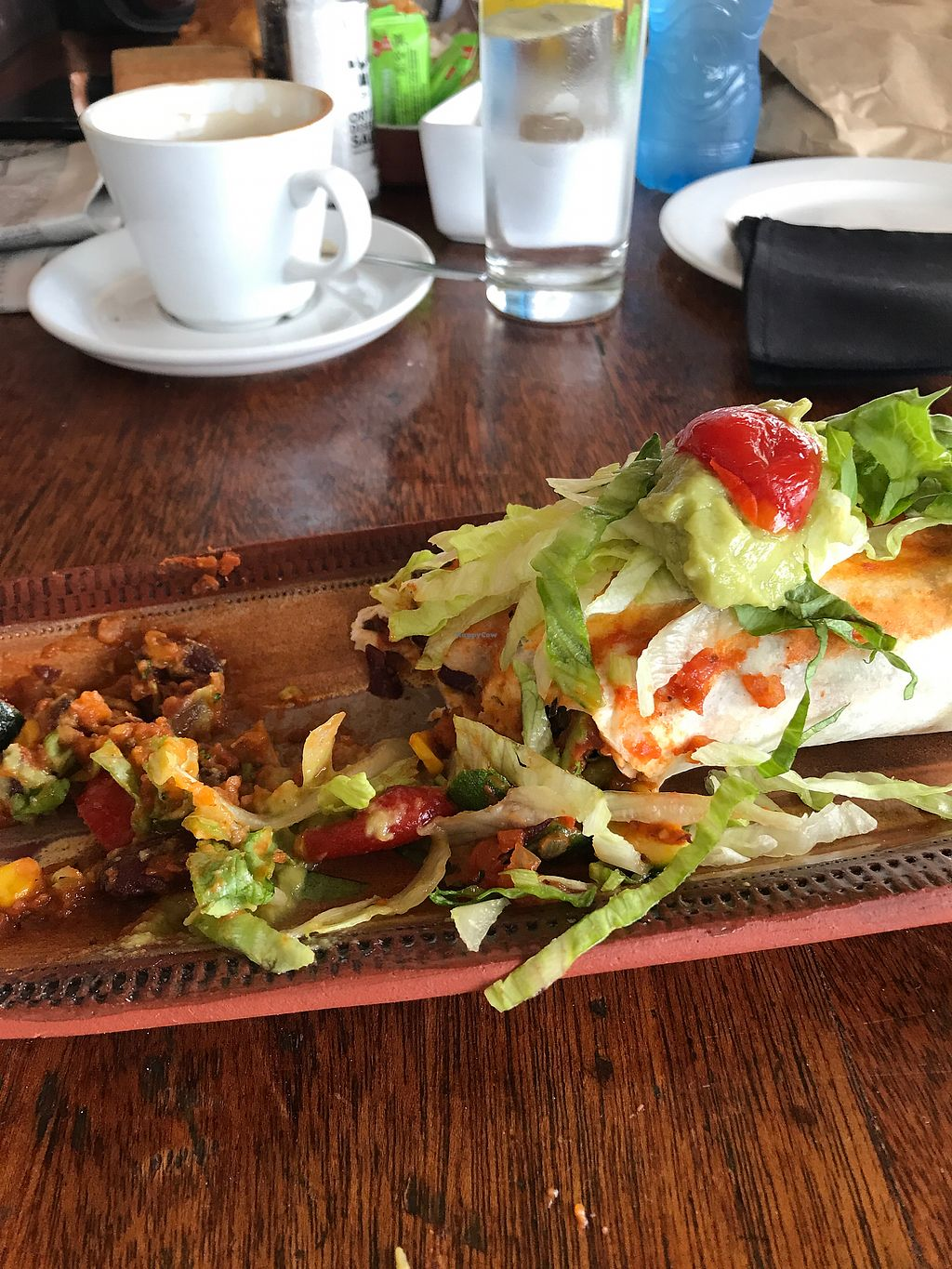 """Photo of In Food Bakery & Deli Restaurant  by <a href=""""/members/profile/Debbie23"""">Debbie23</a> <br/>Half eaten vegan enchilada <br/> October 24, 2017  - <a href='/contact/abuse/image/94062/318456'>Report</a>"""