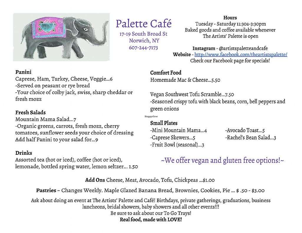 """Photo of Palette Cafe  by <a href=""""/members/profile/CapriciousCornball"""">CapriciousCornball</a> <br/>New and updated menu!  <br/> June 23, 2017  - <a href='/contact/abuse/image/94081/272673'>Report</a>"""